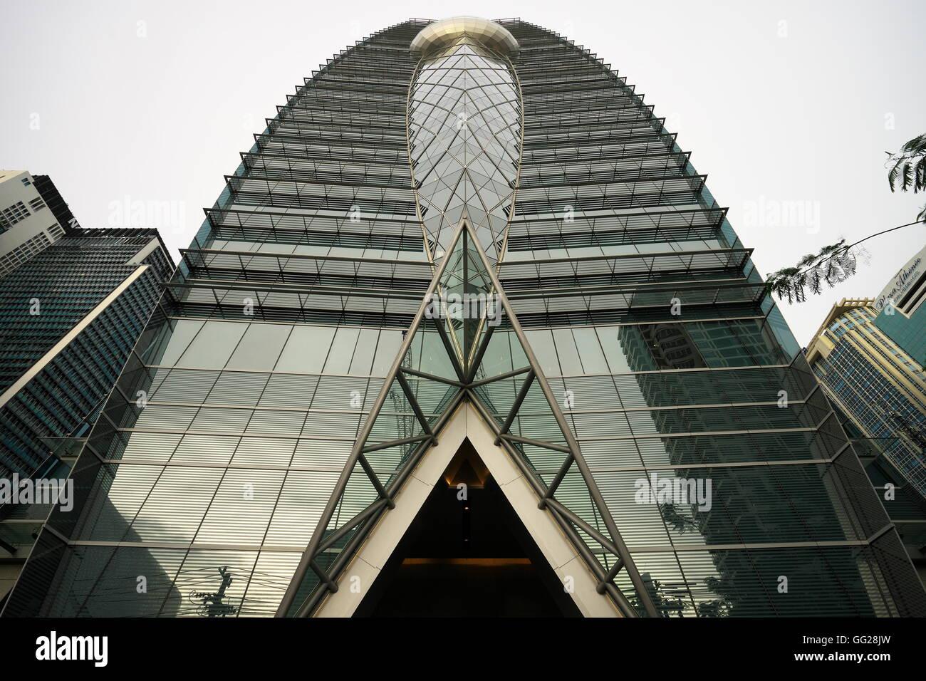 Park Ventures Ecoplex Building, Okura Prestige Hotel,Bangkok - Stock Image