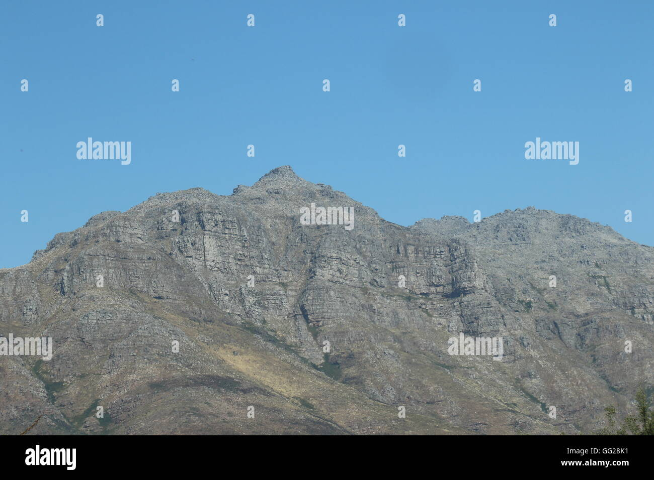 Mountains at Aaldering Vineyard and Wines, Stellenbosch, South Africa - Stock Image