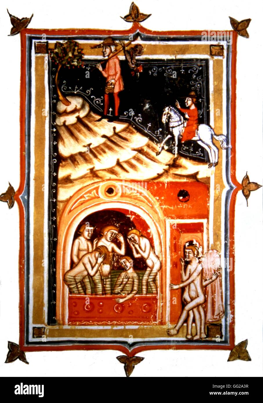 Medical manuscript The Pozzuoli baths. Water cures in the province ...