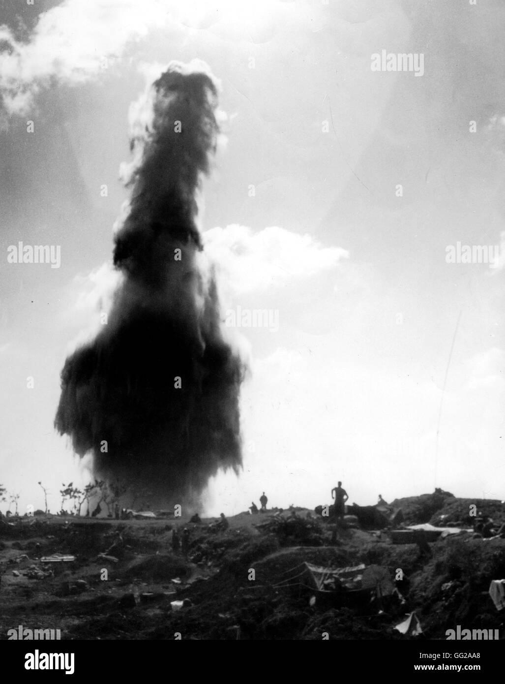 The Pacific War: nuclear explosion in Okinawa 1945 Japan - World War II Washington. National archives - Stock Image