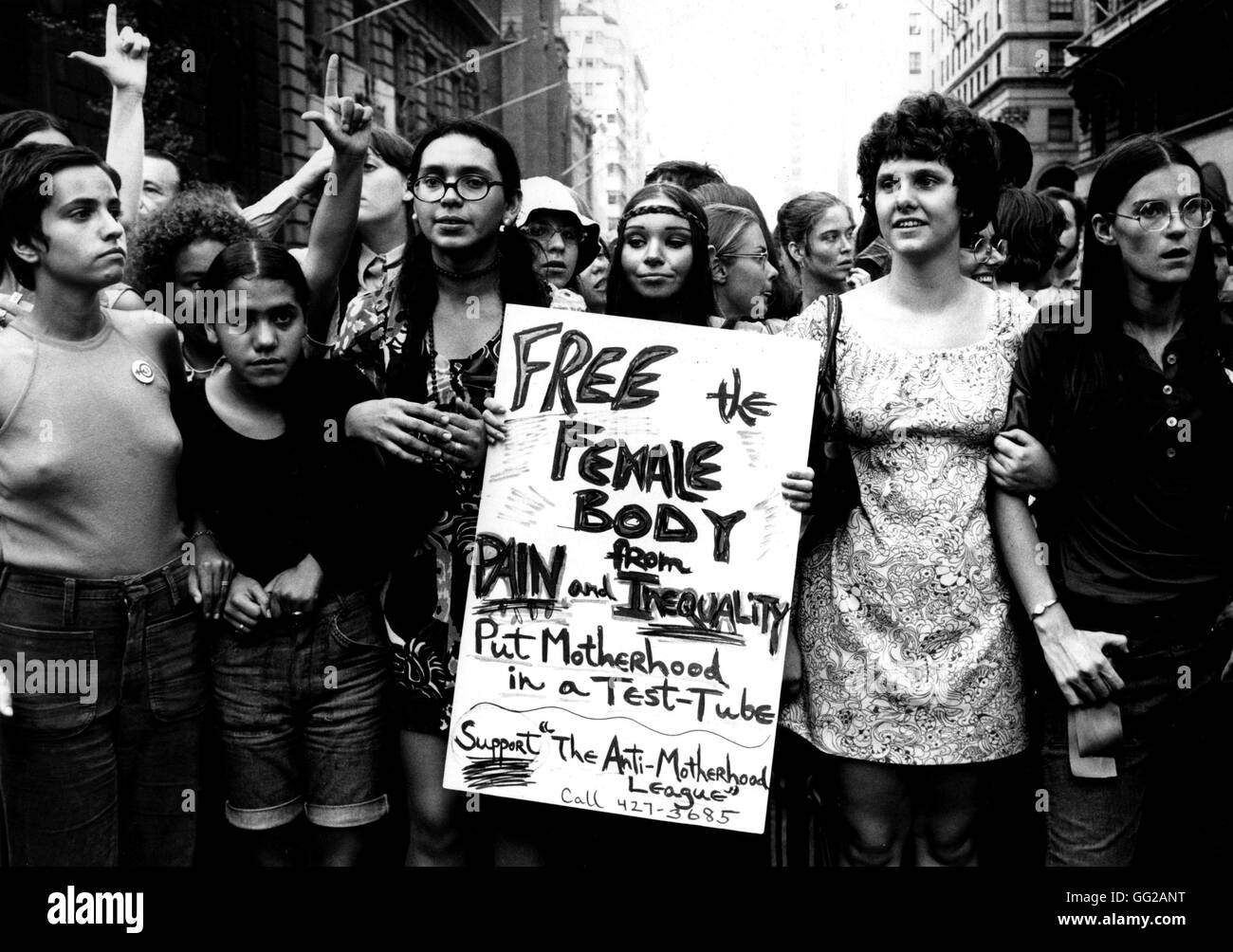 Women's Parade for the Women's Liberation Movement, on 5th Avenue, in New York Summer 1970 United States - Stock Image