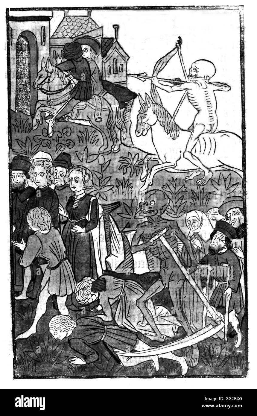 Ackerman von Böhmen : men and Death 1493 Paris - B.N. - Stock Image