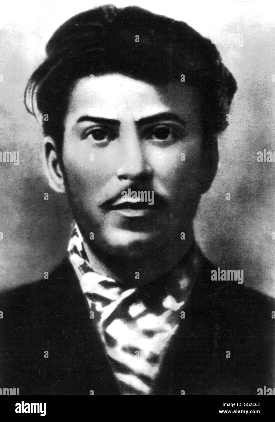 Stalin, leader of the armed uprisings in Transcaucasia, during the first bourgeoise democratic revolution. 1905 - Stock Image