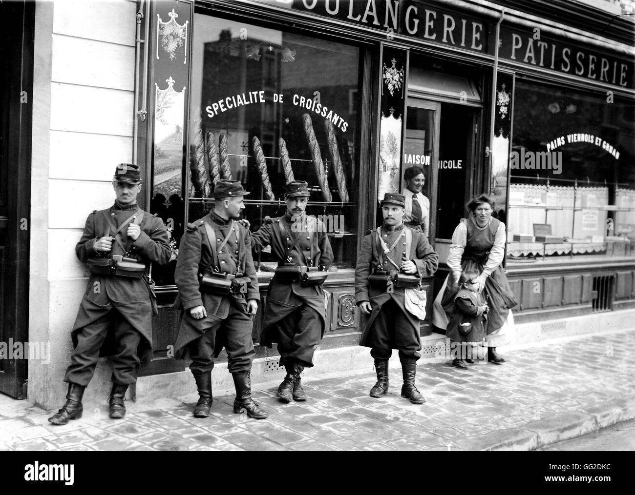 Bakers strike: soldiers called in as reinforcement May 13, 1913 France - Stock Image