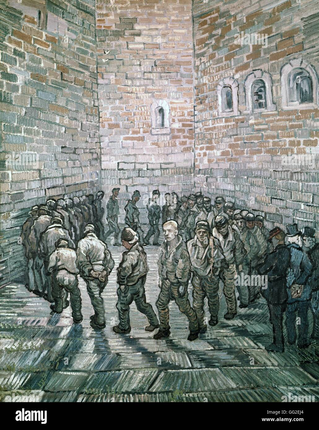 Vincent van Gogh Dutch school Prisoners' Round or Prisoners Exercising 1890 Oil on canvas (80 x 64 cm) Moscow, The Stock Photo