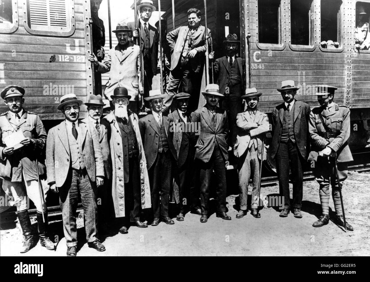 Arrival of the members of the Zionist Committee April 3, 1918 Palestine, Zionism B.D.I.C. - Stock Image