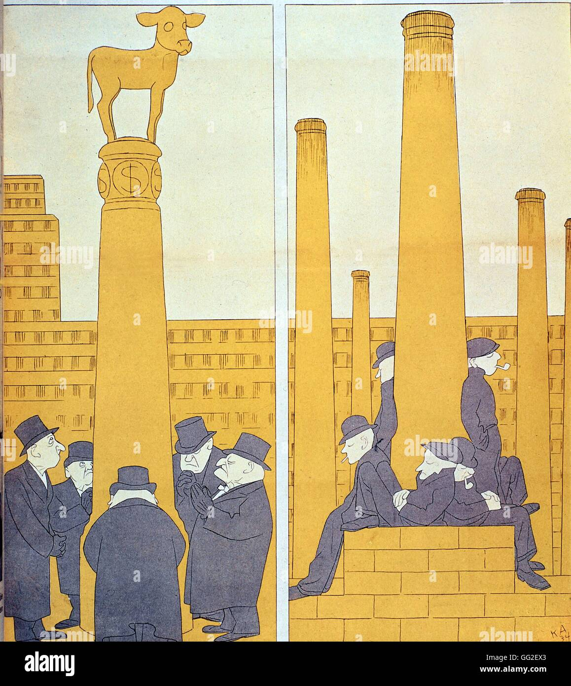 Satirical Cartoon By Arnold From Simplicissimus America You