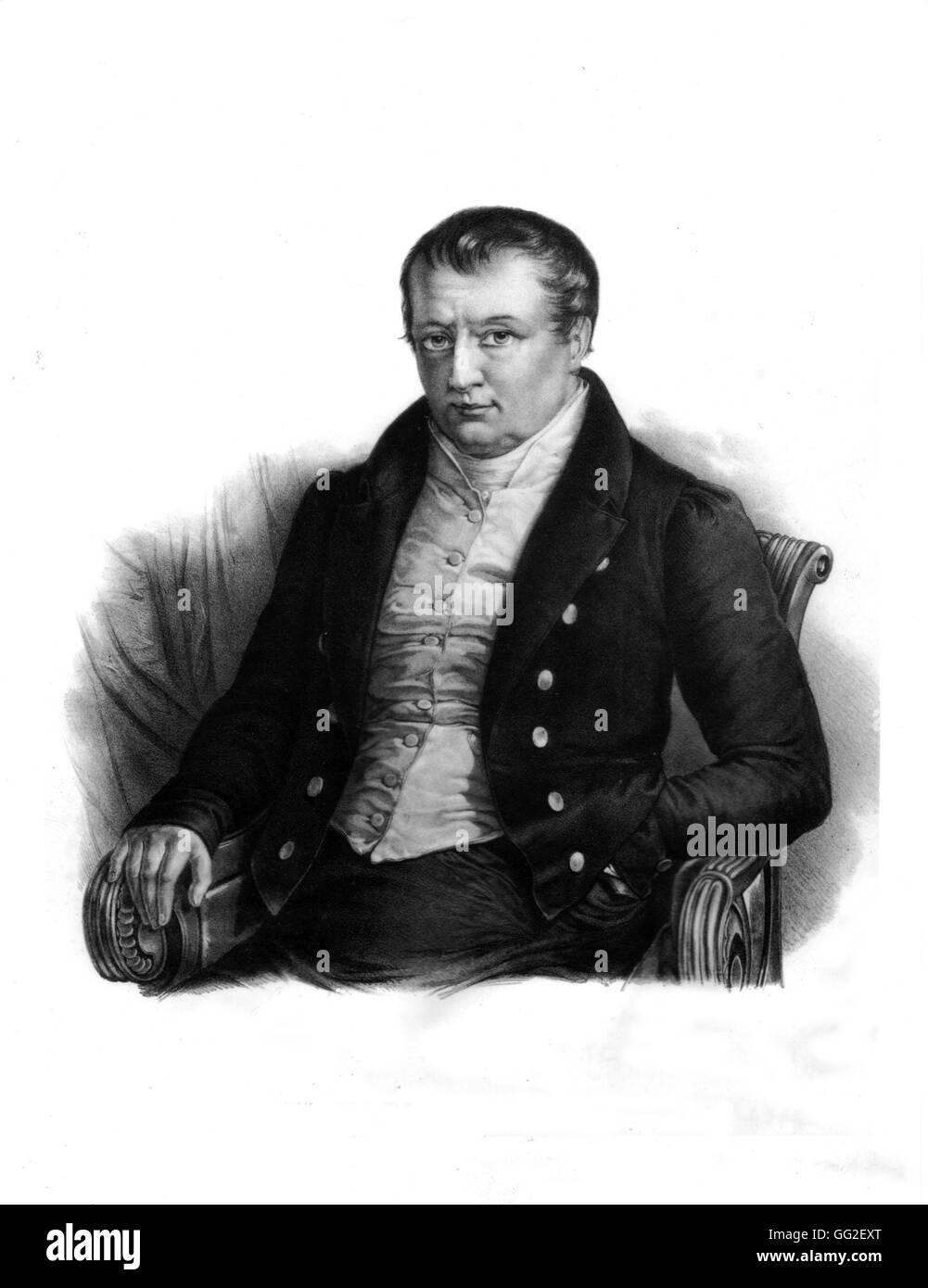 Portrait of Joseph Bonaparte (1768-1844) 19th century France Paris. Bibliothèque nationale - Stock Image