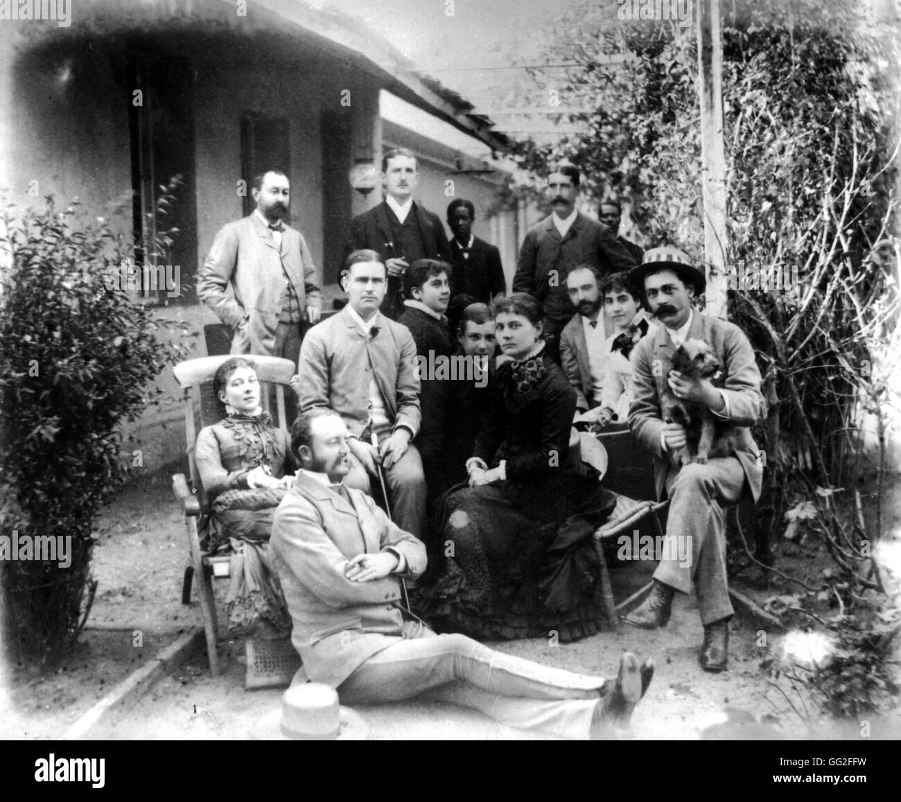 Wealthy family in Las Torras, near Valparaiso c. 1900 Chile Paris. Bibliothèque nationale - Stock Image