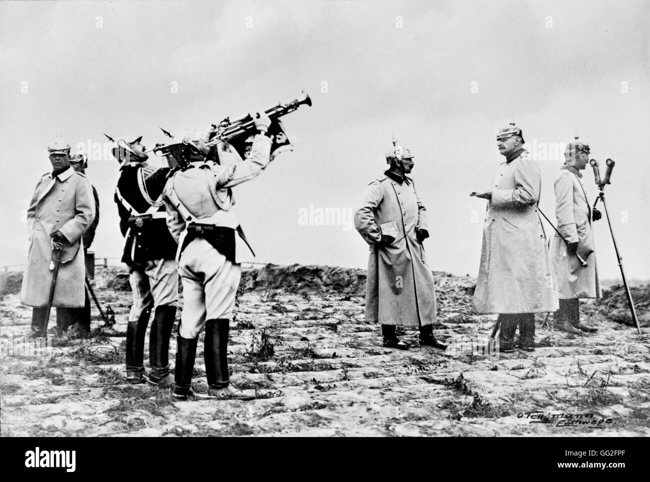 First World War. A manoeuvre of the Kaiser in 1913. - Stock Image
