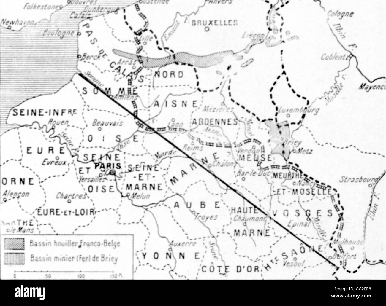 First world war map of german claims in the north east of france first world war map of german claims in the north east of france the line joining the mouth of the river somme in belfort marks the boundary of claimed gumiabroncs Images