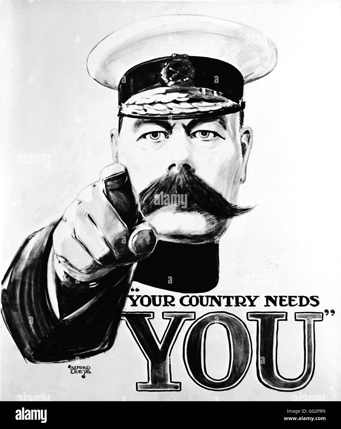 First World War. Recruitment poster, Lord Kitchener asking British ...