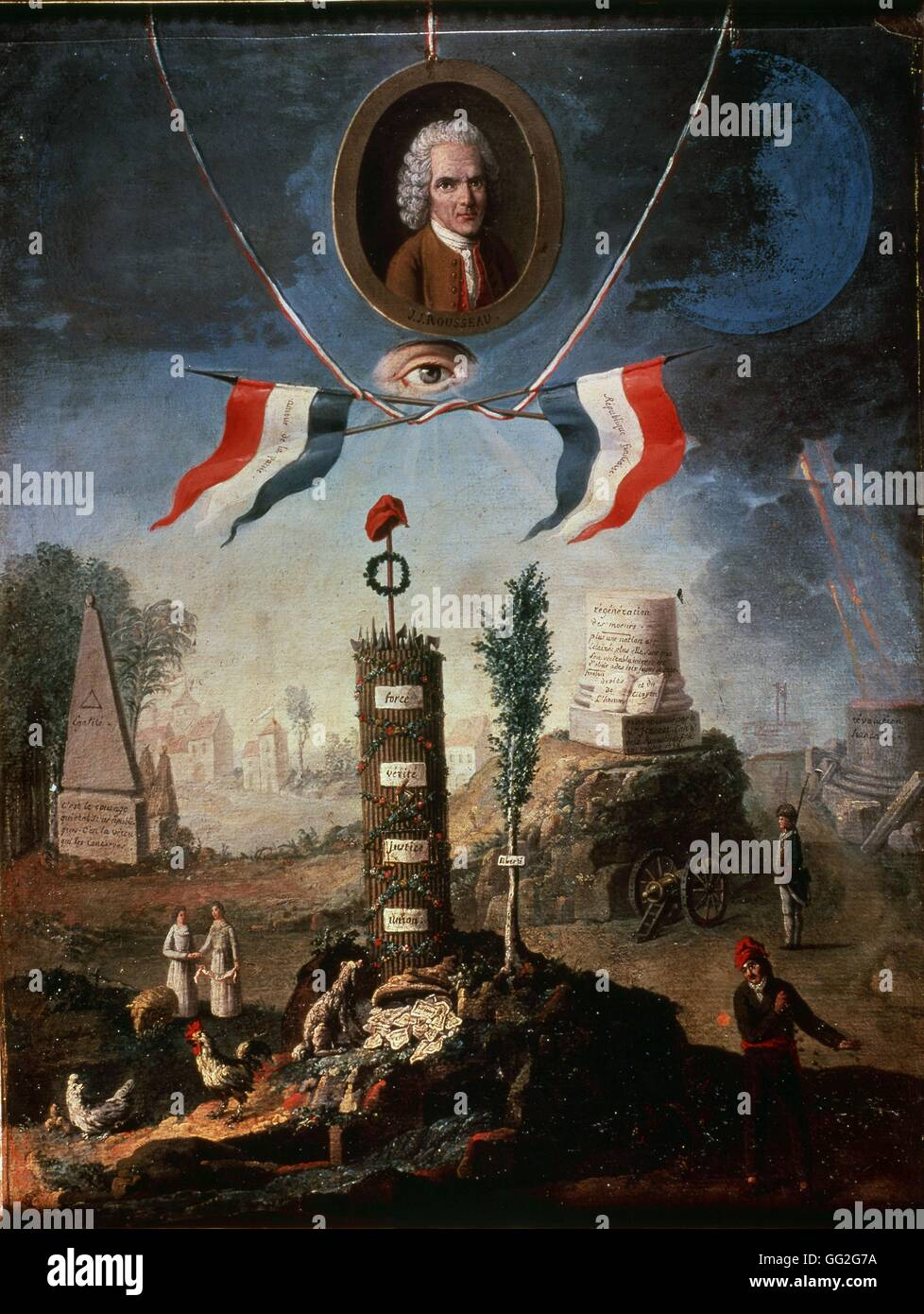 Nicolas Henri Jeaurat de Bertry French school An Allegory ...