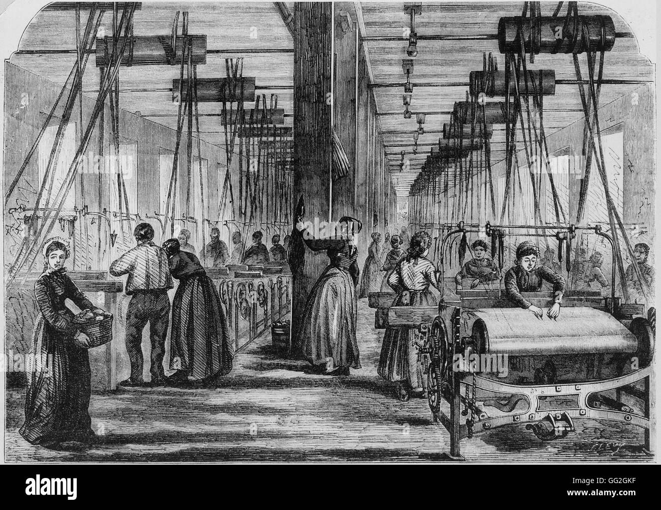 Women Working In A Textile Mill In The Vosges Region
