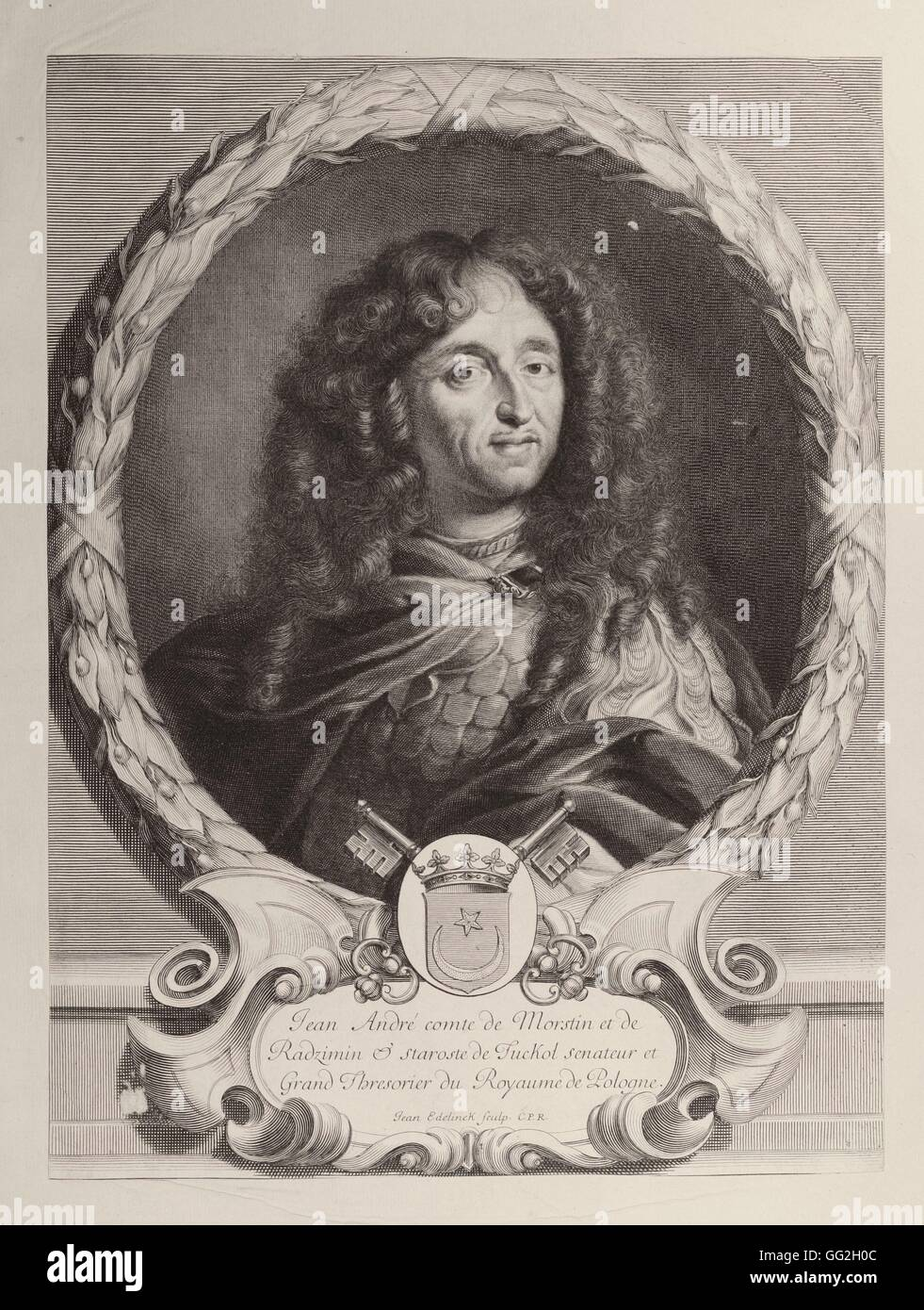 Jean André, Count of Morstin and Radzimin. Senator and Master Treasurer of the Kingdom of Poland - Stock Image