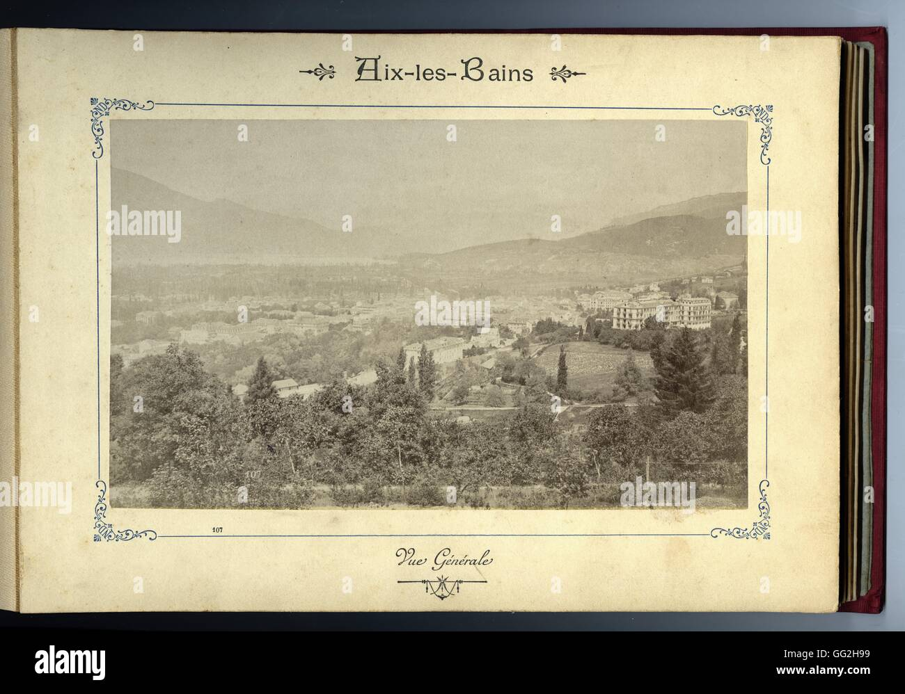The French City Of Aix Les Bains General View Album With 12 Stock