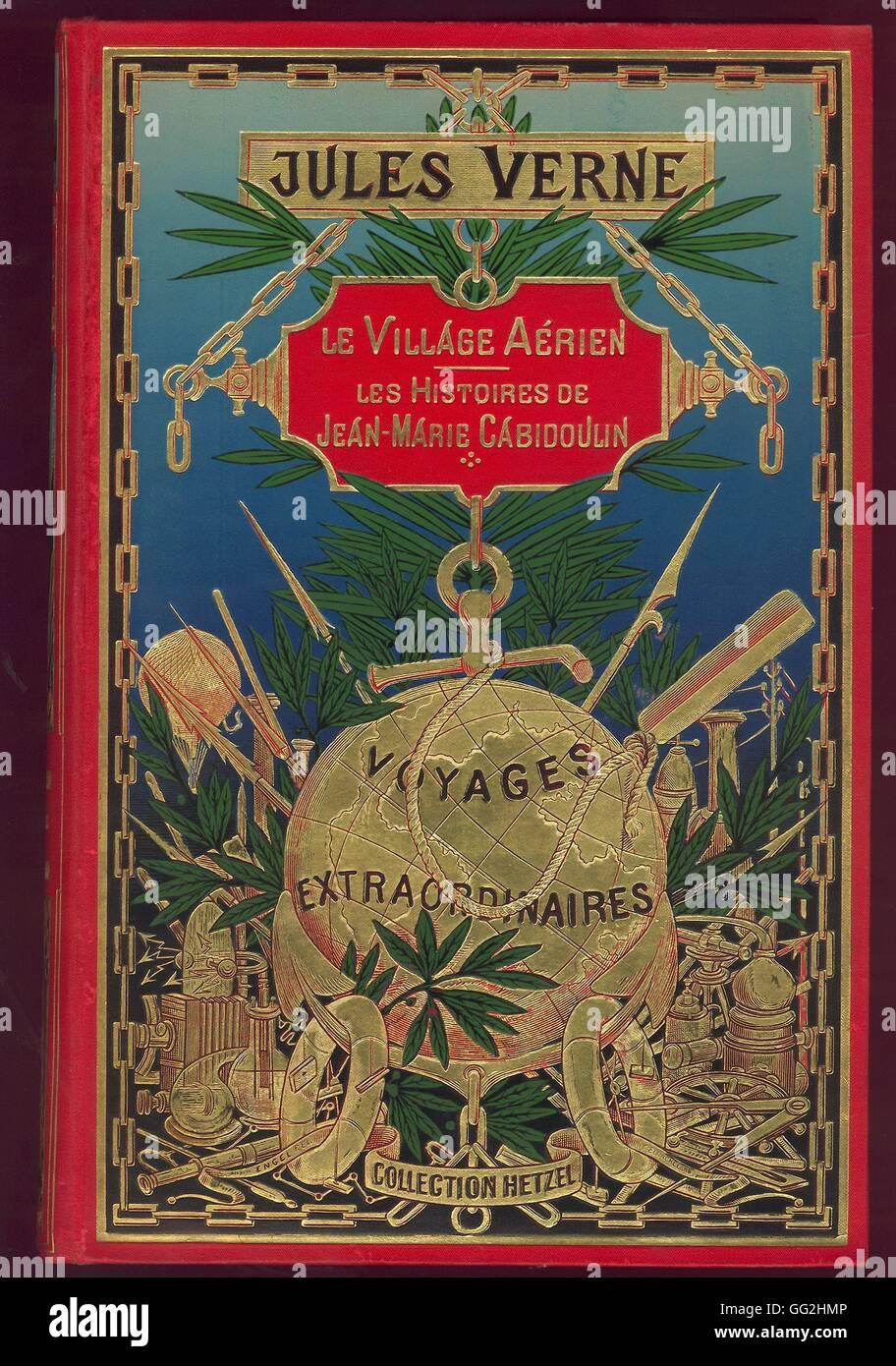 Cover Le Village aérien - Les histoires de Jean-Marie Cabidoulin Les Voyages Extraordinaires, Jules Verne Editions - Stock Image