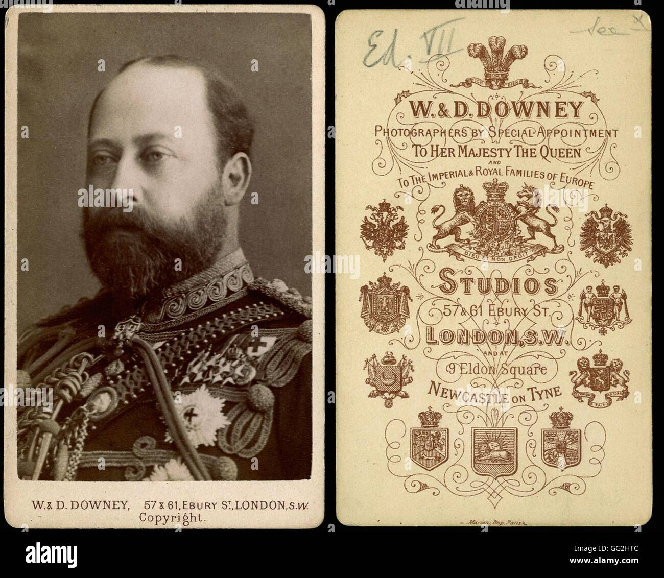 Edouard VII (1841-1910), king of England Photo by R & D. Downey Size : visiting card - Stock Image
