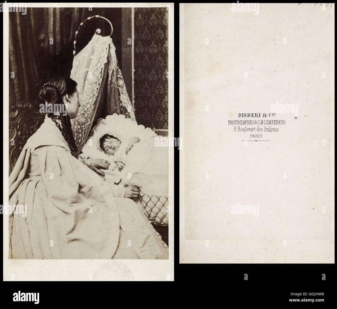 Louis Napoléon Eugène Jean Joseph Bonaparte (1856-1879) Imperial prince, son of Napoléon III and Eugenie de Montijo Stock Photo