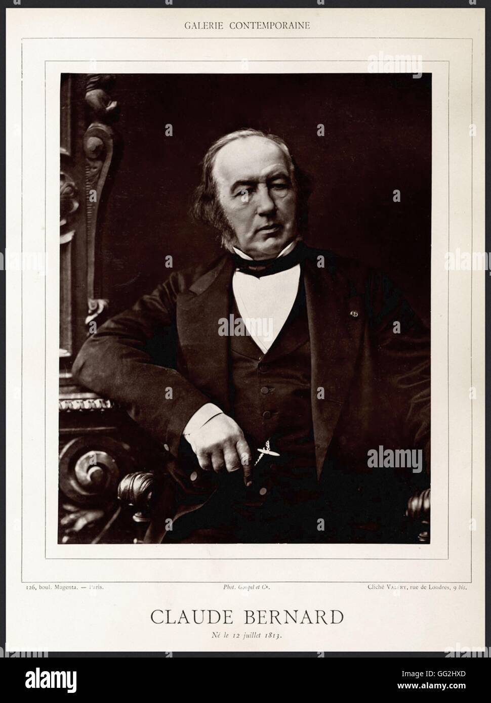 Claude Bernard (1813-1878), french doctor Photo by Valéry - Stock Image