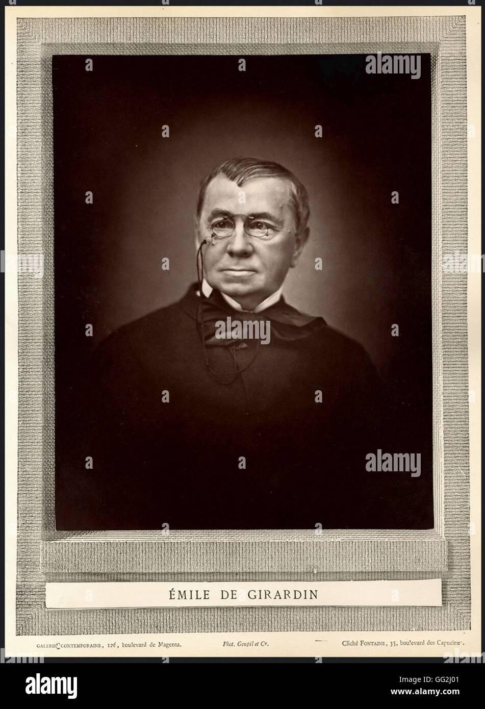 Portrait of Émile de Girardin (1802-1881),  french politician and journalist Stock Photo