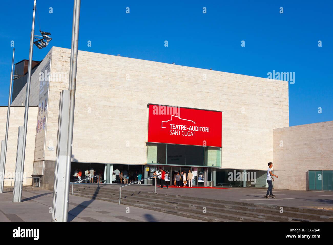 Teatre Auditori, Sant Cugat del Valles, Barcelona, Catalonia, Spain - Stock Image