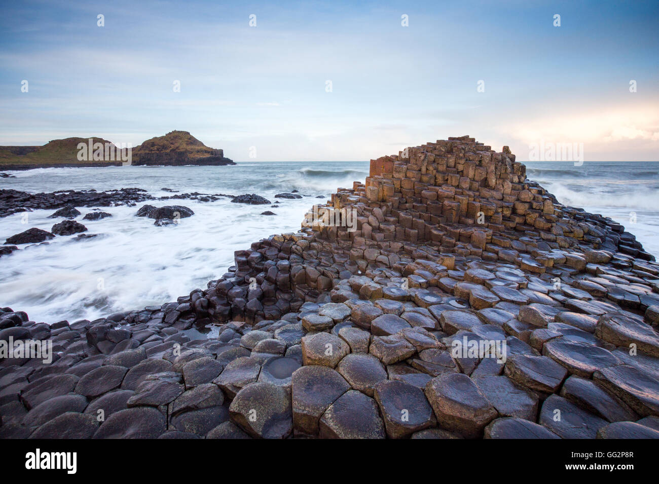 Giant's Causeway in Northern Ireland - Stock Image