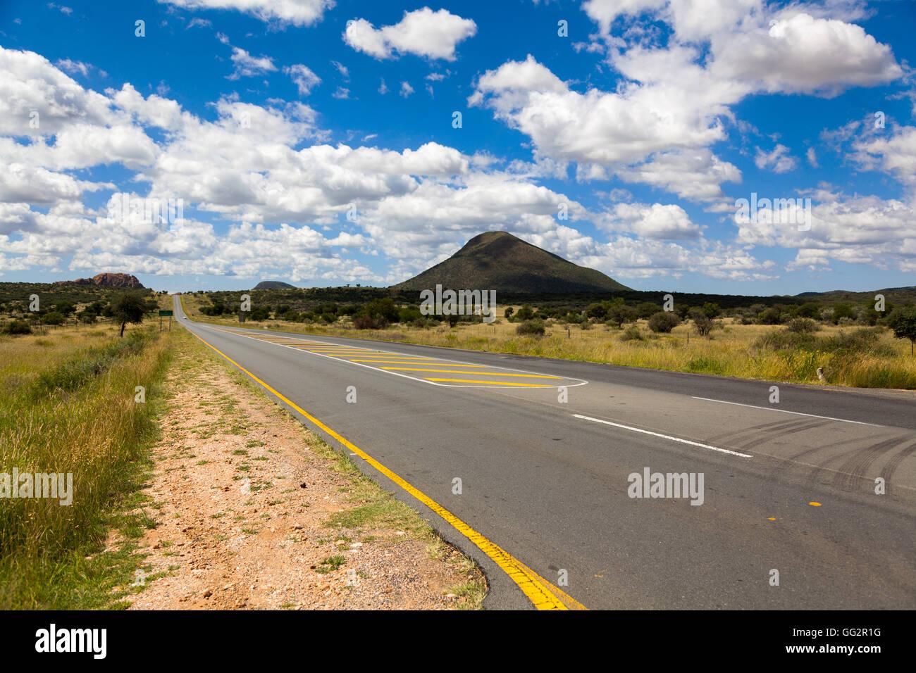 Namibia Highway B1, South of Windhoek - Stock Image