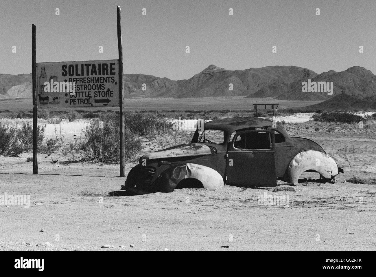 Solitaire Namibia Abandoned car - Stock Image