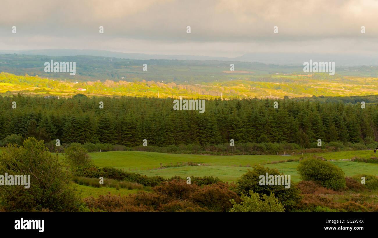 A landscape in West Cork, Ireland - Stock Image