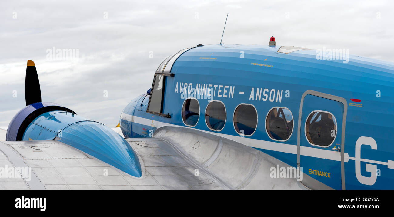 Avro Nineteen Anson G-AHKX  at Royal International air Tattoo 2016 - Stock Image