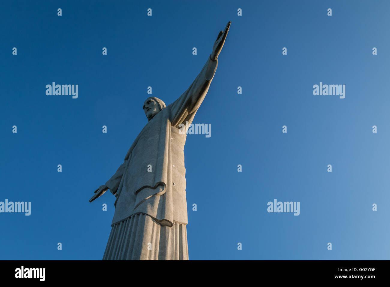 Christ the Redeemer statue in Rio de Janeiro Stock Photo