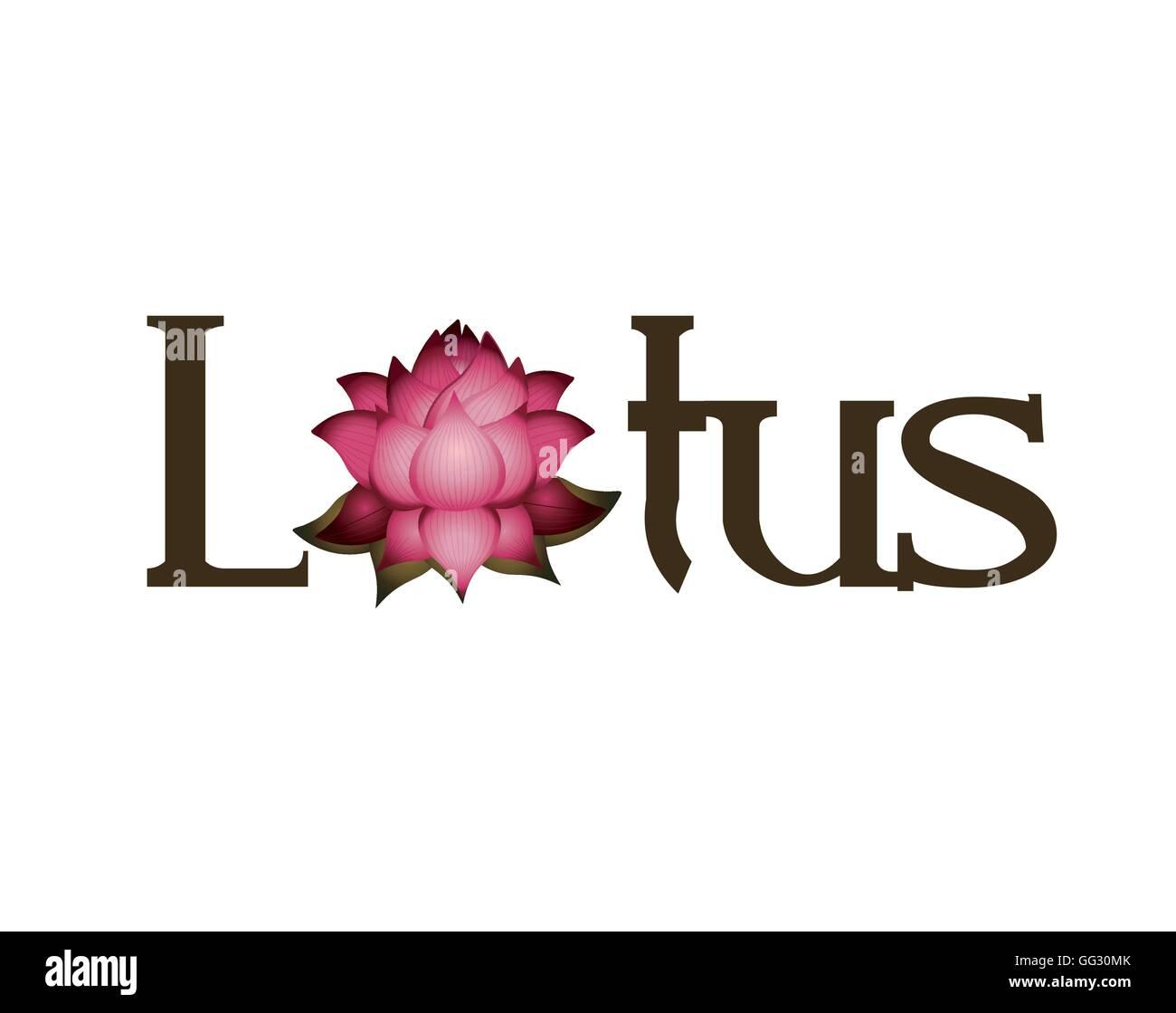 Lotus flower word icon stock vector art illustration vector image lotus flower word icon mightylinksfo