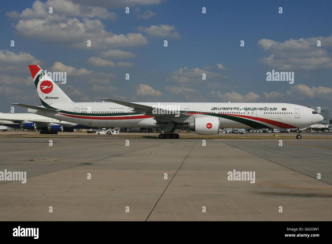 BANGLADESH BIMAN 777 300 - Stock Image
