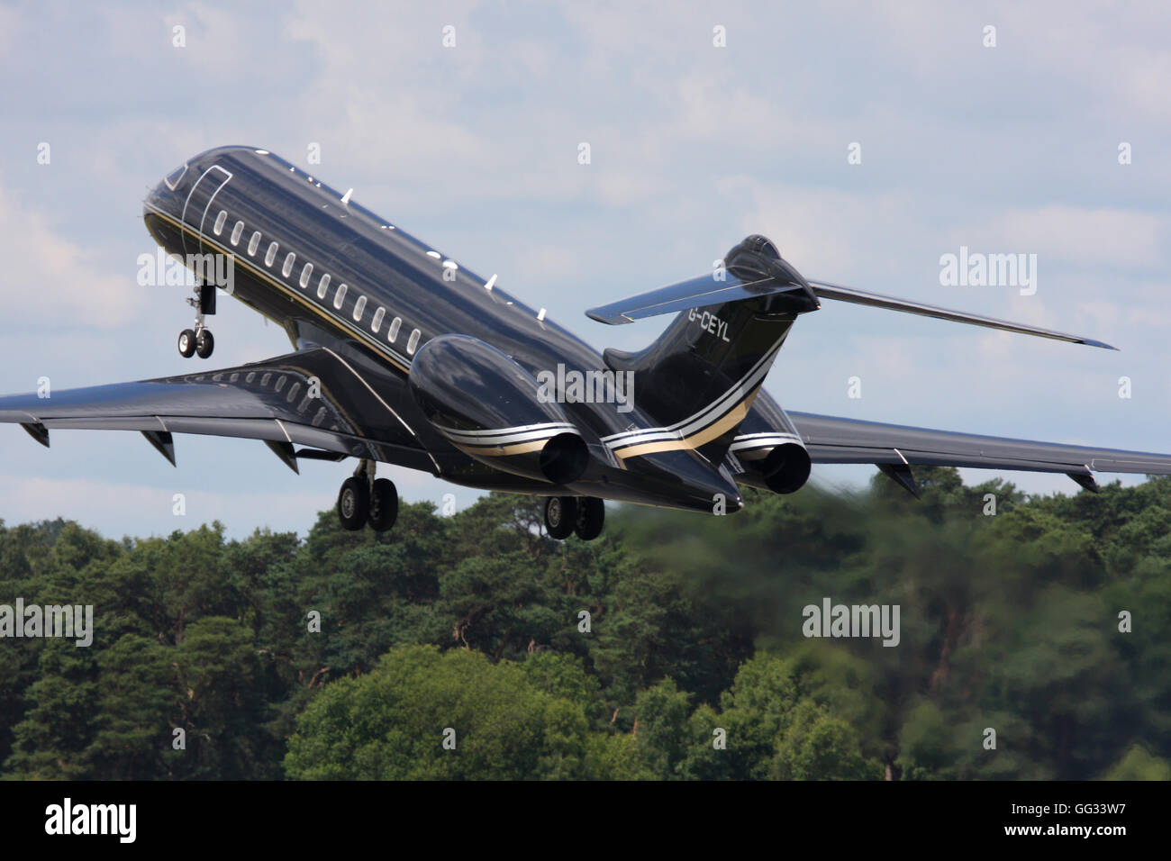 GLOBAL EXPRESS TAG AVIATION - Stock Image