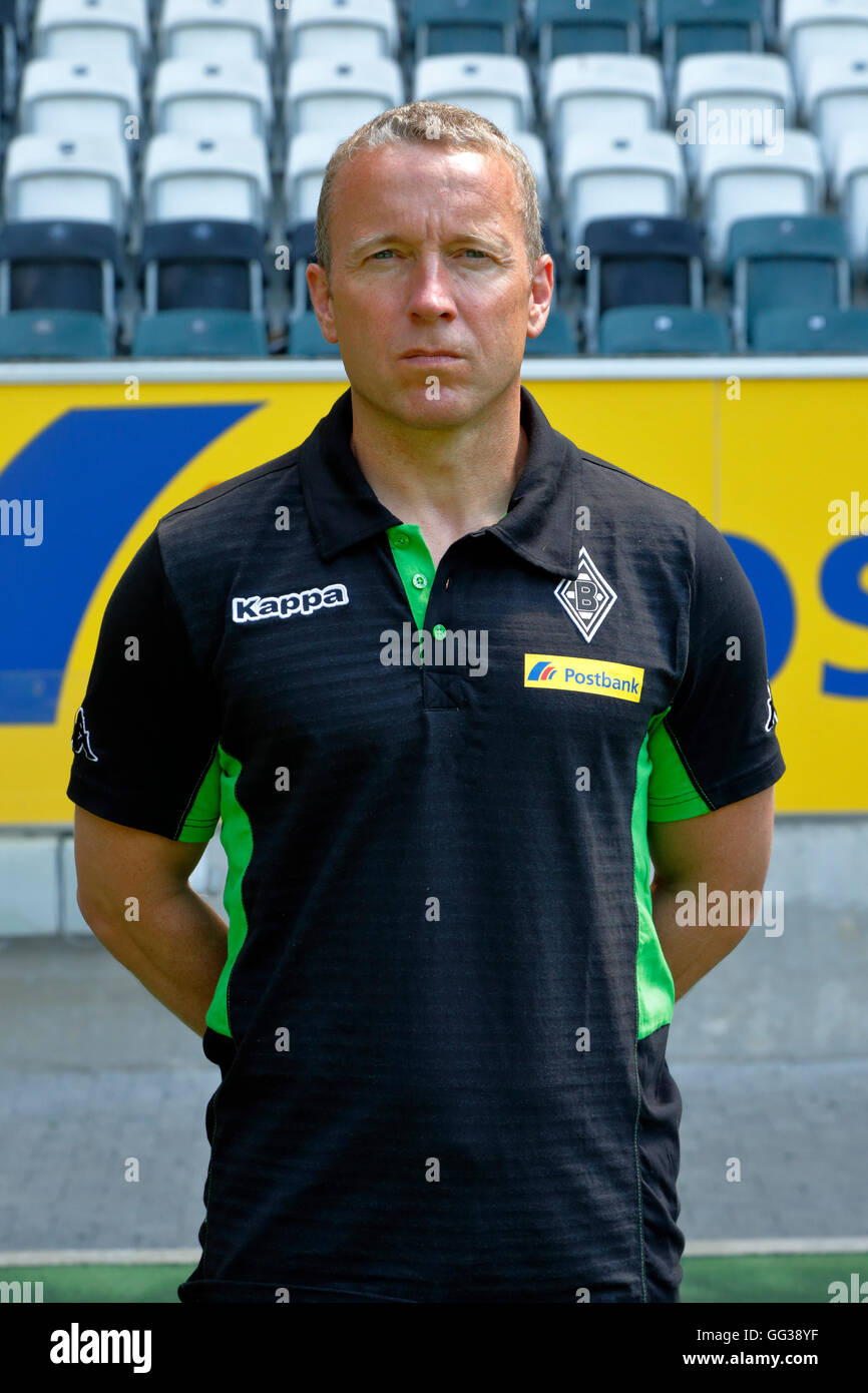 football, Bundesliga, 2016/2017, Borussia Moenchengladbach, press photo shooting, portrait, assistant coach Frank - Stock Image