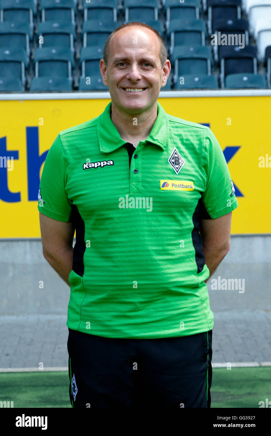 football, Bundesliga, 2016/2017, Borussia Moenchengladbach, press photo shooting, portrait, kitman Marcus Breuer - Stock Image