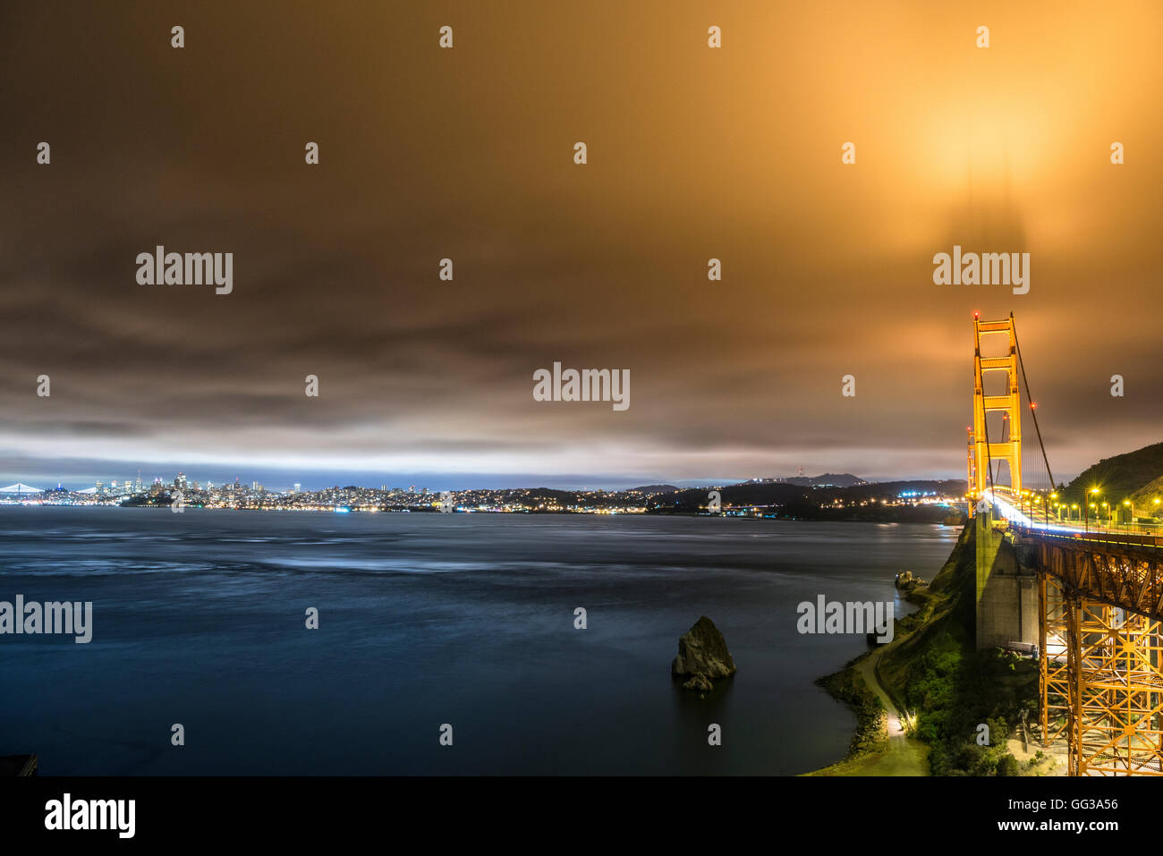 View of the Golden Gate Bridge, San Francisco, USA - Stock Image