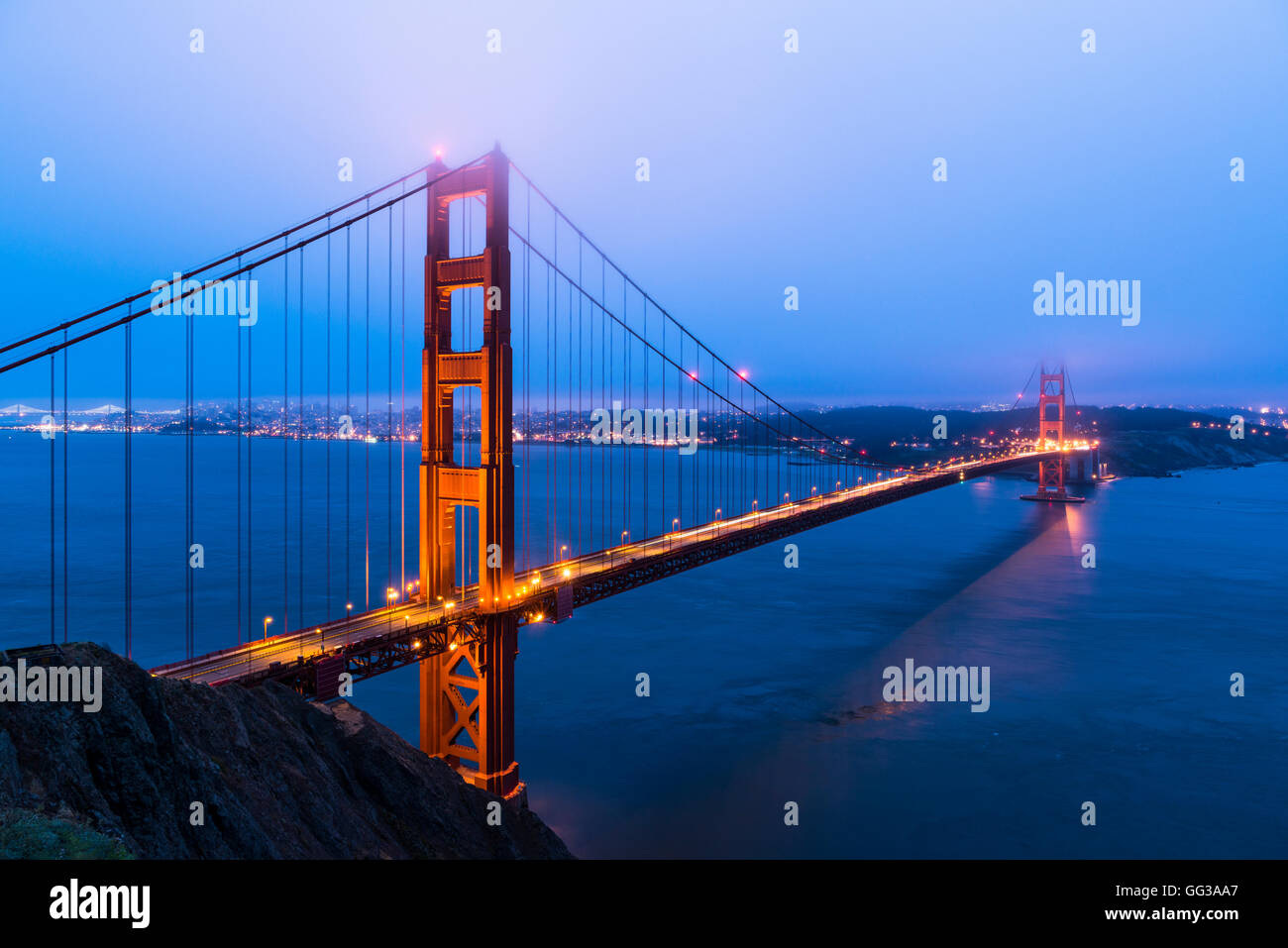View from the Golden Gate Bridge, San Francisco, USA - Stock Image