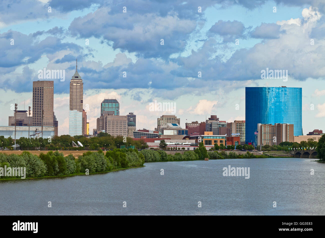 view of indianapolis indiana skyline from river image of summer