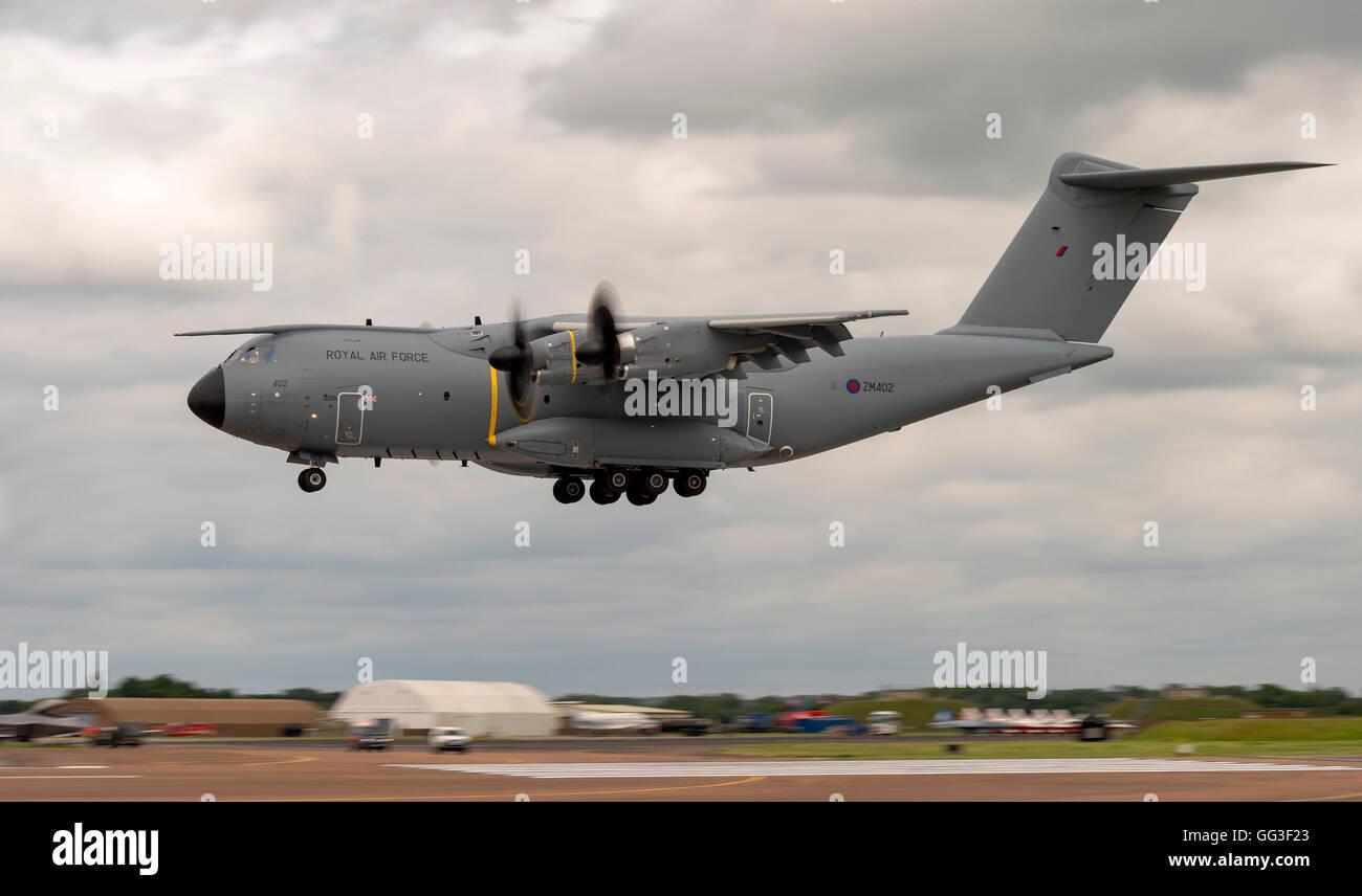 A400m Atlas, ZM402, Royal Air Force, at RIAT 2016 - Stock Image