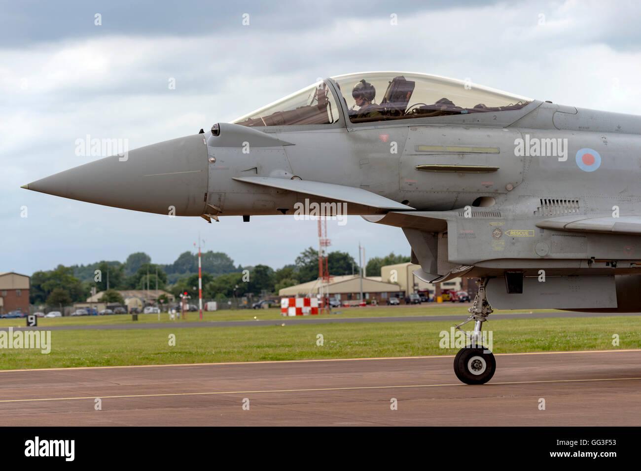 Eurofighter Typhoon FGR4, ZK329, Royal Air Force, at the Royal International Air Tattoo 2016 - Stock Image