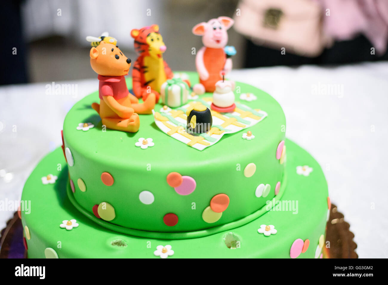 Terrific Birthday Cake Candles Winnie Pooh Stock Photos Birthday Cake Funny Birthday Cards Online Alyptdamsfinfo