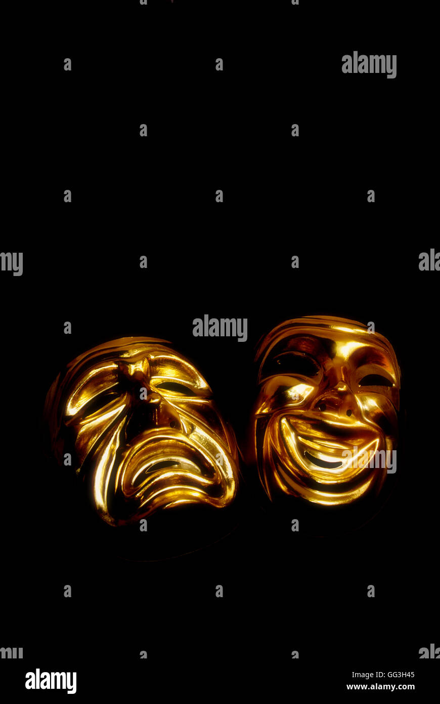 masks of tragedy and comedy - Stock Image