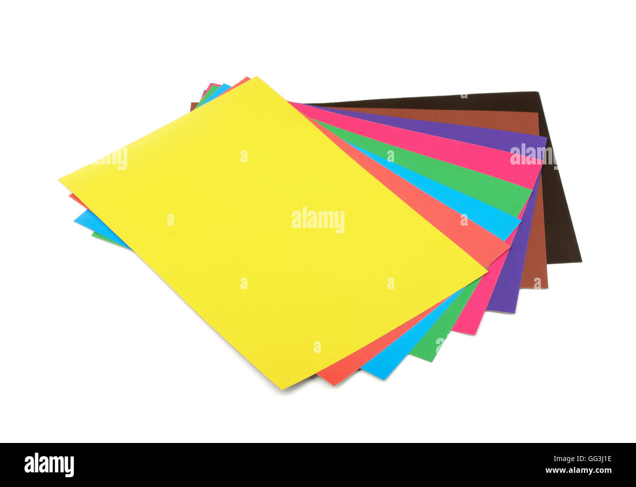Cardboard Colors Paper Colored Stock Photos & Cardboard Colors Paper ...