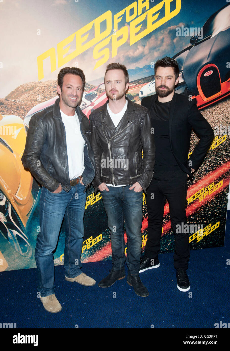 Scott Waugh,Aaron Paul and Dominic Cooper at the Need For Speed