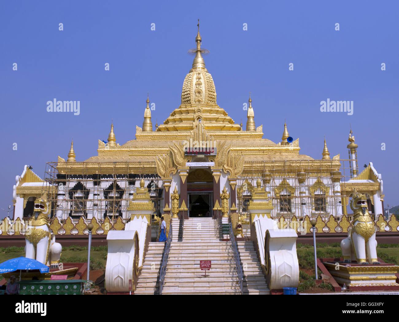 The Maha Ant Htoo Kan Thar Pagoda - Stock Image
