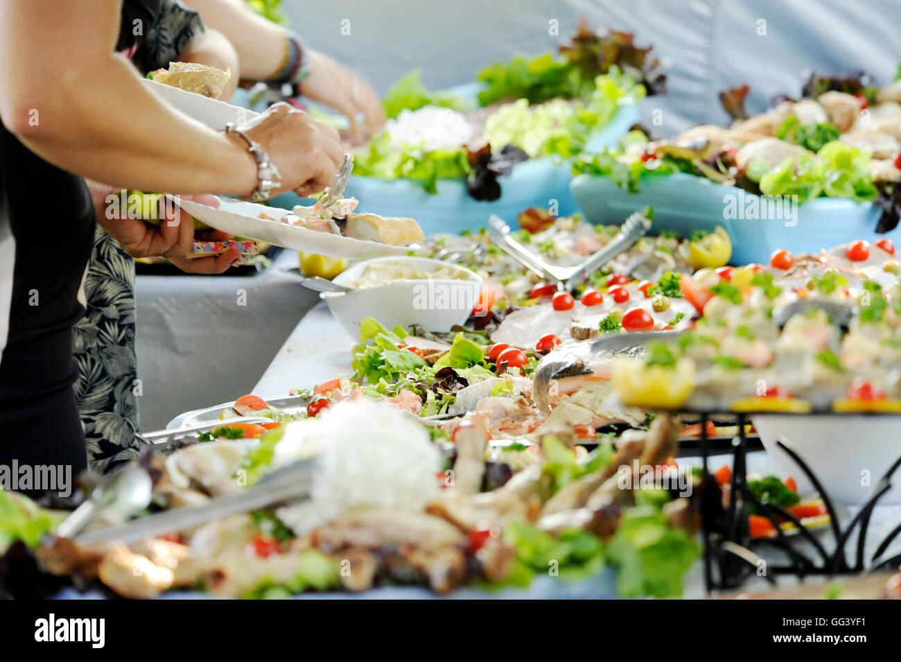 Summer buffet Stock Photo
