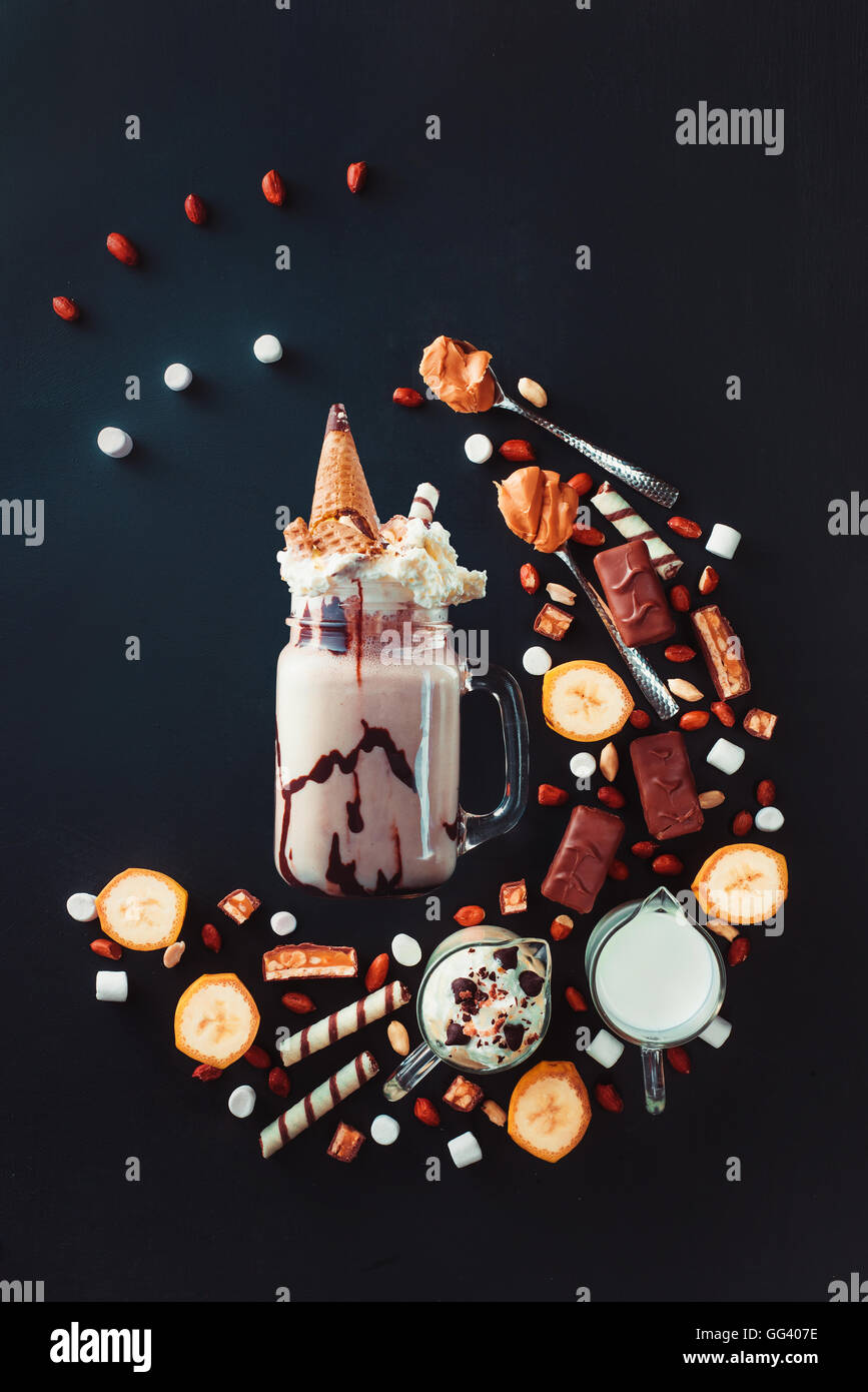 Milkshake Geometry - Stock Image