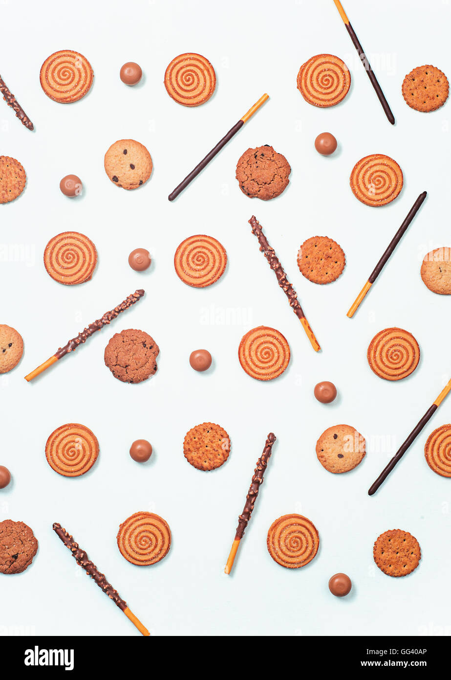Cookie pattern - Stock Image
